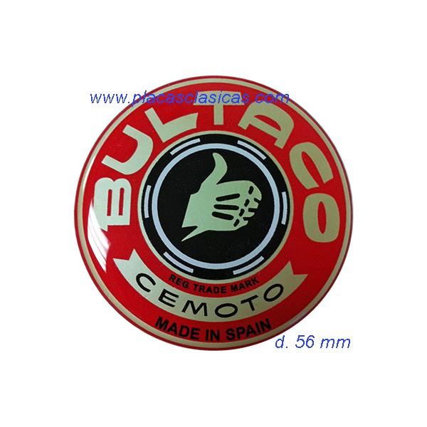 Anagrama resina BULTACO rojo d. 56 PL-313 Image