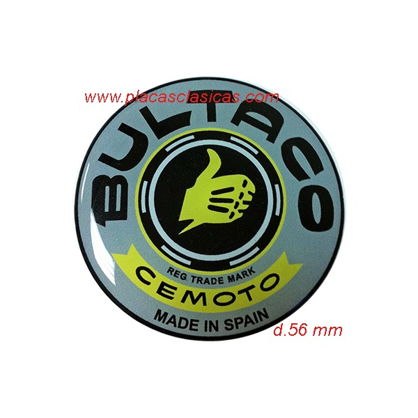 Anagrama resina BULTACO gris d.56 PL-314 Image