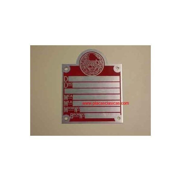 Placa Matricula Ministerio Roja PL-105 Image