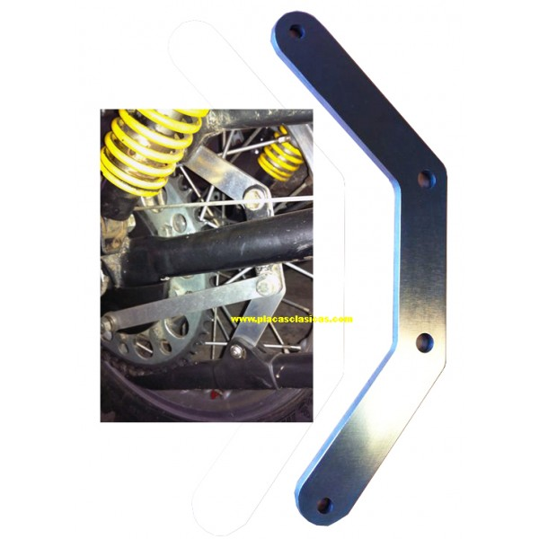 Soporte aluminio fundas cadena Enduro 250 H6 PL-403 Image